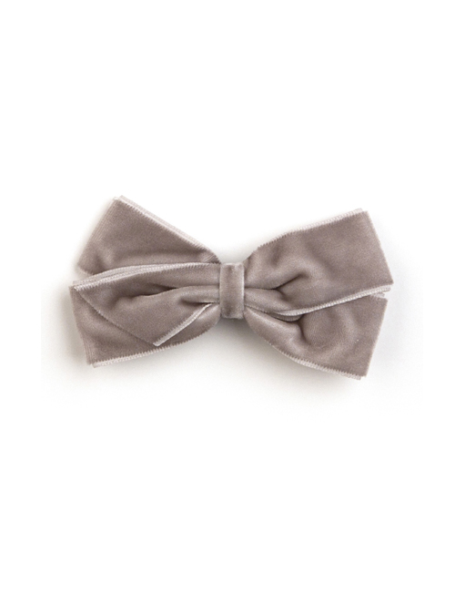 베르티존스 Medium Velvet Hair clip_Metal Grey