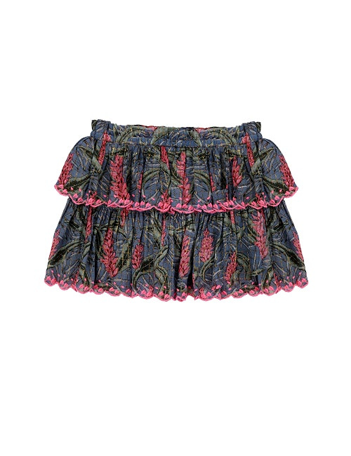 Litchi skirt/Lagoon Leaves