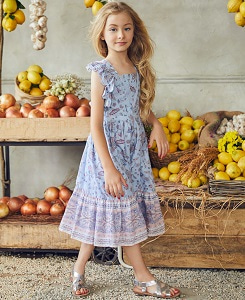 ELINA DRESS/PAISLEY FLOWER