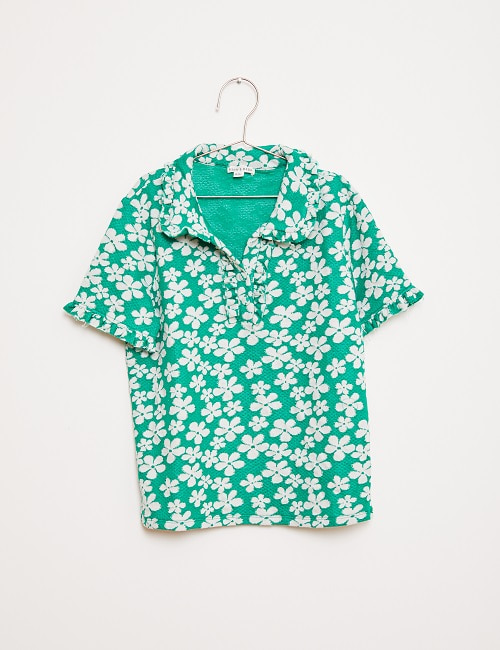 GREEN FLOWER POLO_GREEN