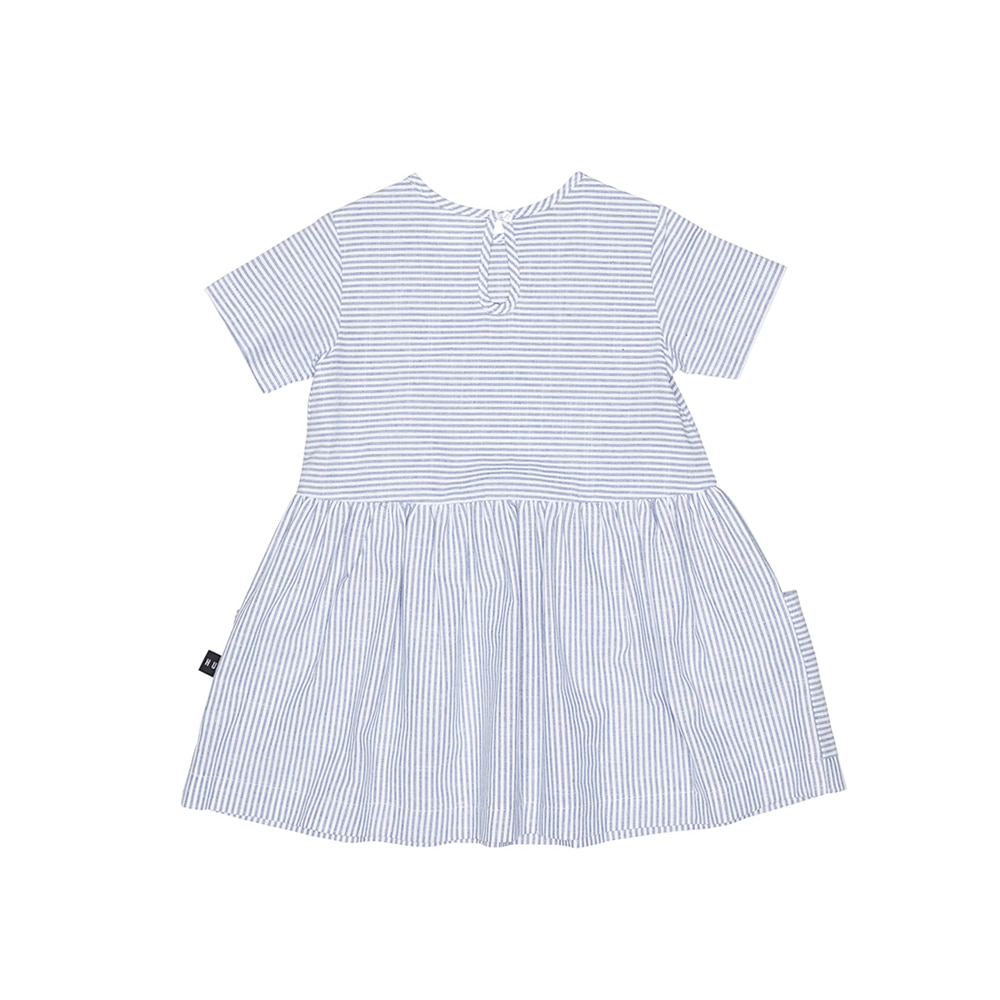 STRIPE DARCY DRESS_NAVY WHITE YDS