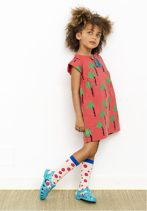 DRESS PALMTREES RED
