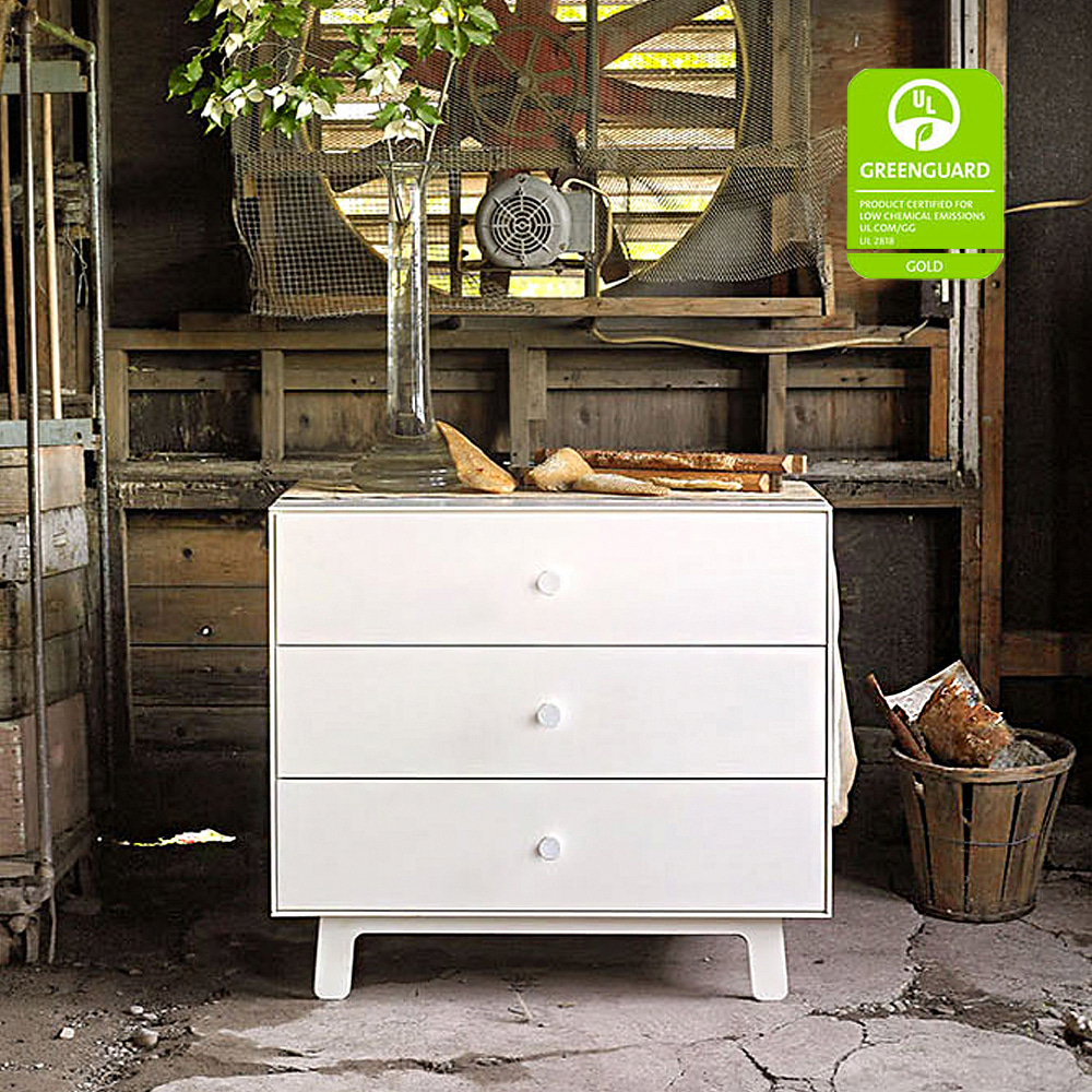 MERLIN 3 DRAWER DRESSER BIRCH/WHITE