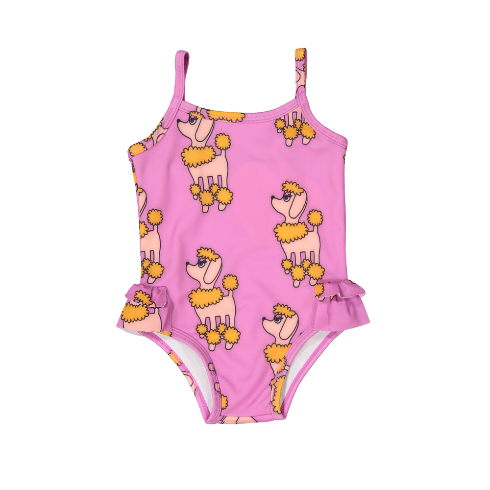 SWIM SUITS_PURPLE POODLE