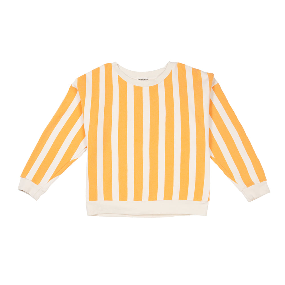 더 캄파멘토 STRIPED SWEATSHIRT_ORANGE STRIPES