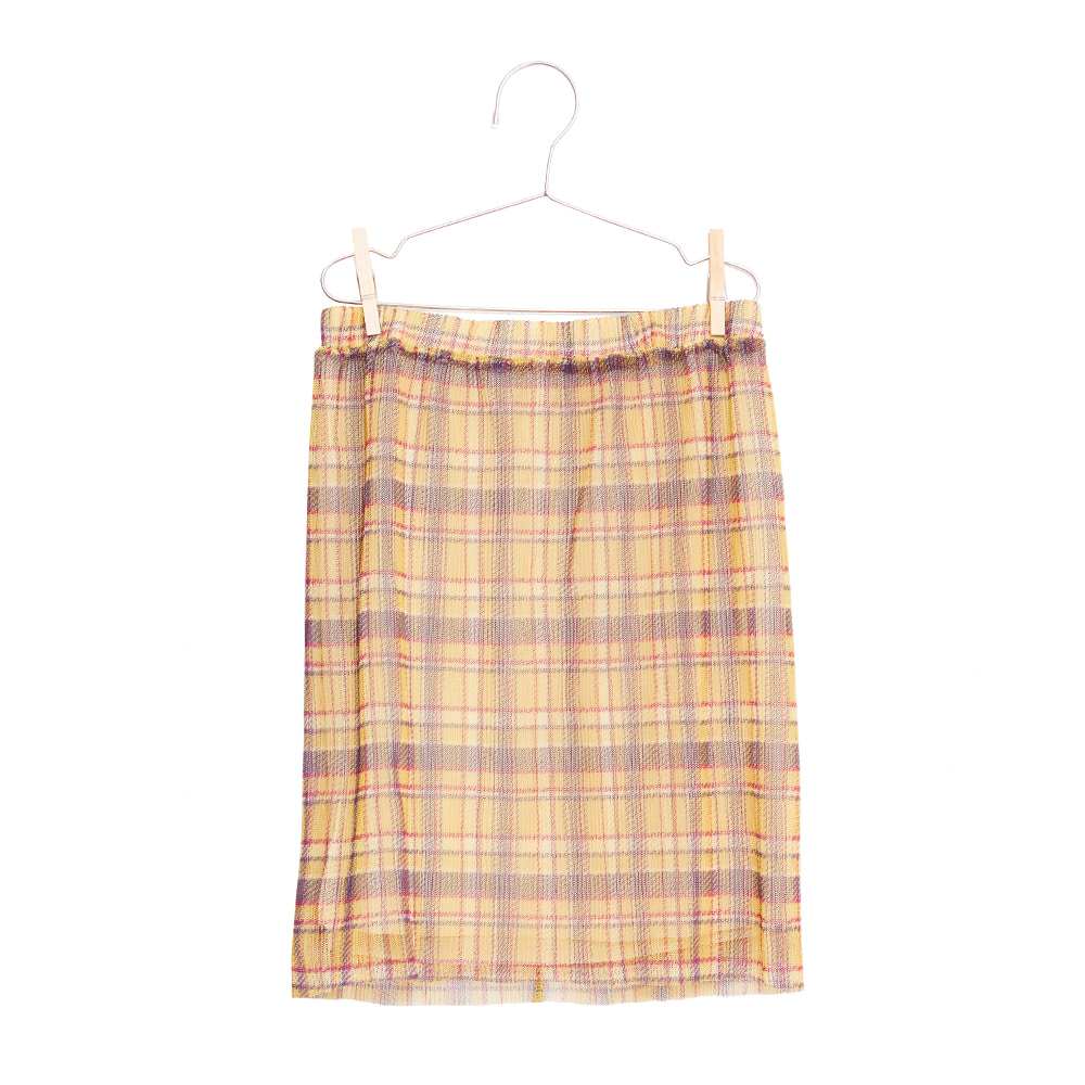 피쉬앤키즈 CHECKS SKIRT_CAMEL