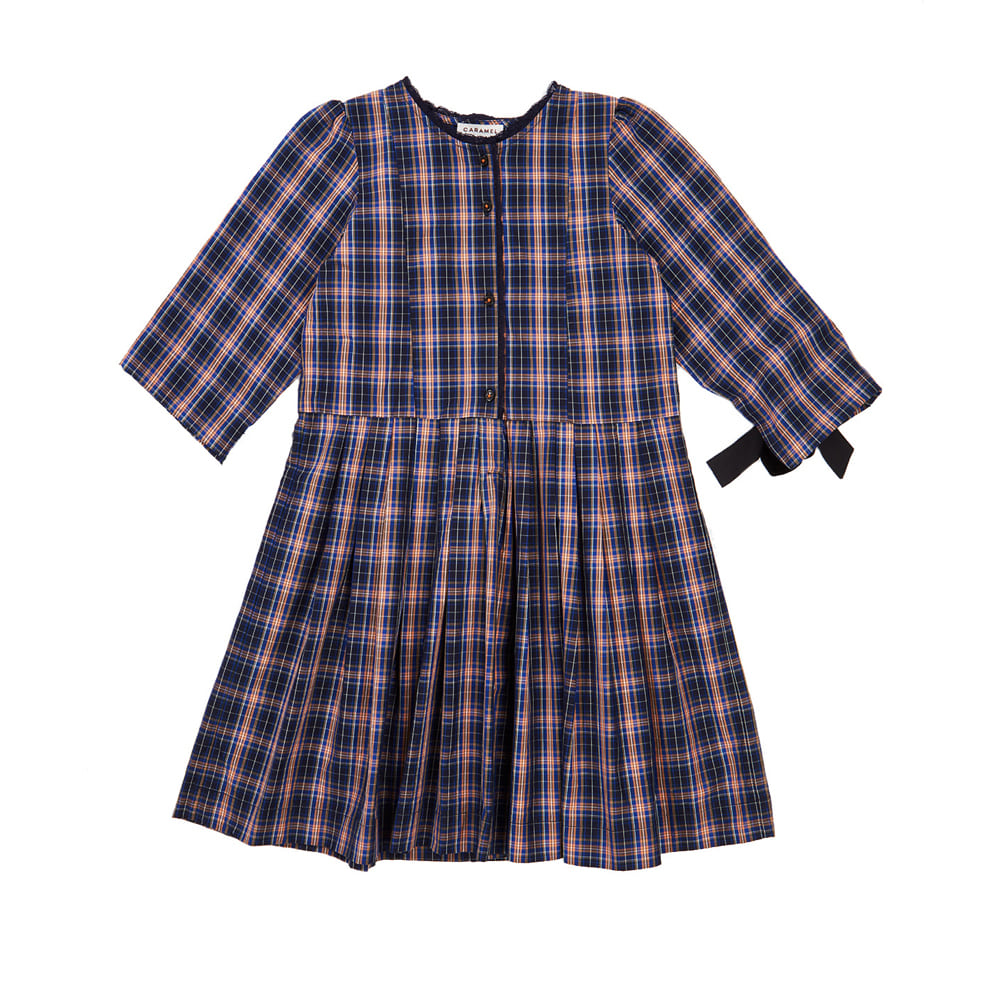카라멜 MEDEA DRESS	_ NAVY CHECK A19NC