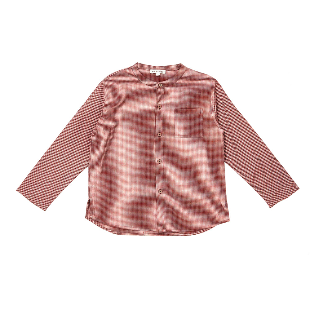 카라멜 MOMUS SHIRT_POPPY MICROCHECK