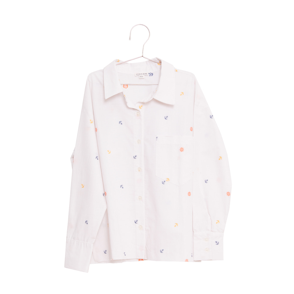 피쉬앤키즈 ANCHORS OVERSIZED SHIRT_WHITE