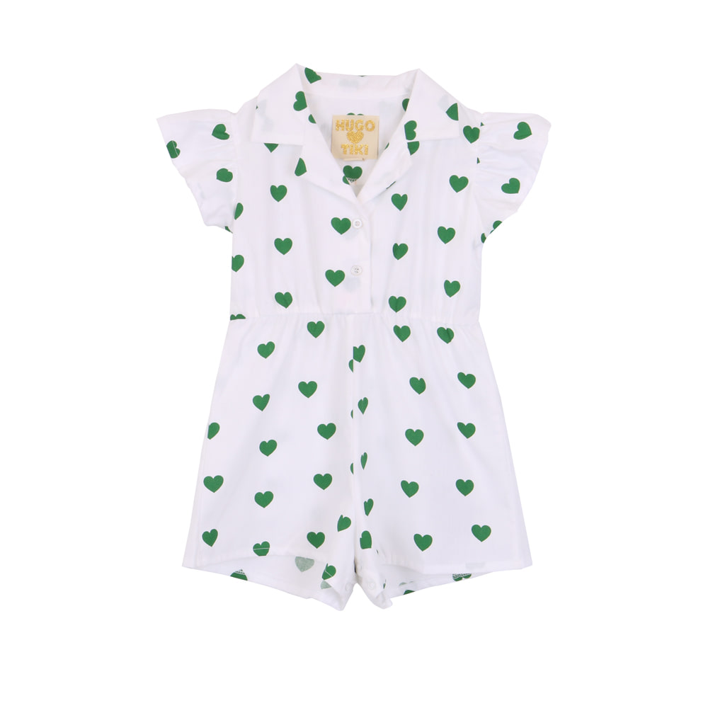 RUFFLED ROMPER_GREEN HEARTS