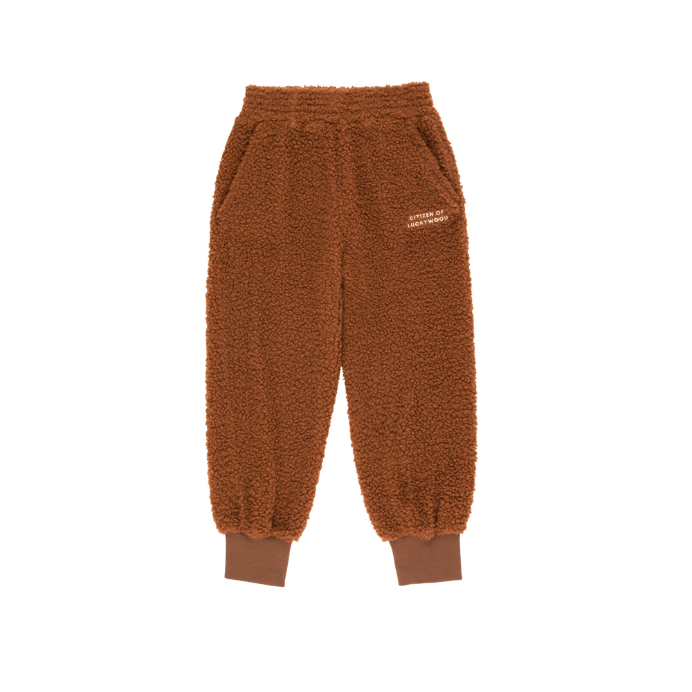 타이니코튼 CITIZEN OF LUCKYWOOD SWEATPANT_DARK BROWN/LIGHT CREAM