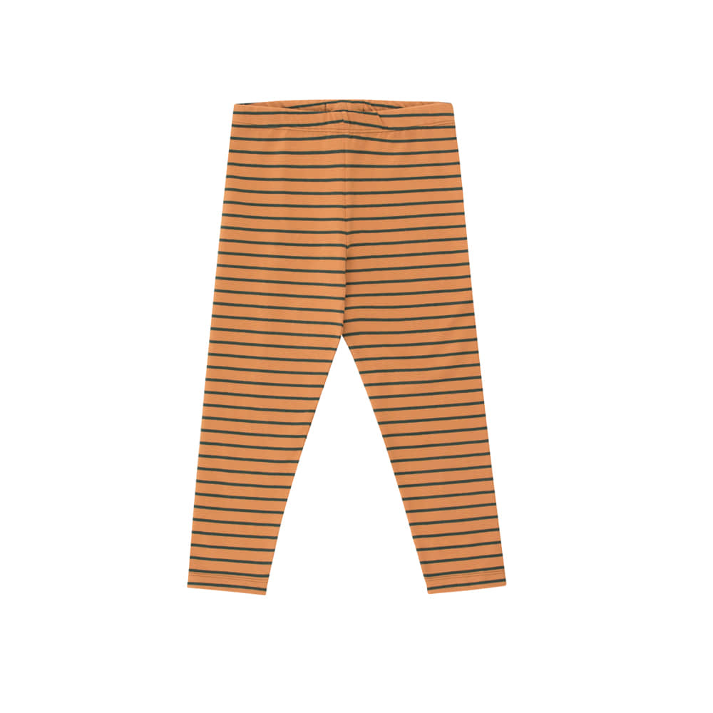 타이니코튼 STRIPES PANT_BROWN/BOTTLE GREEN