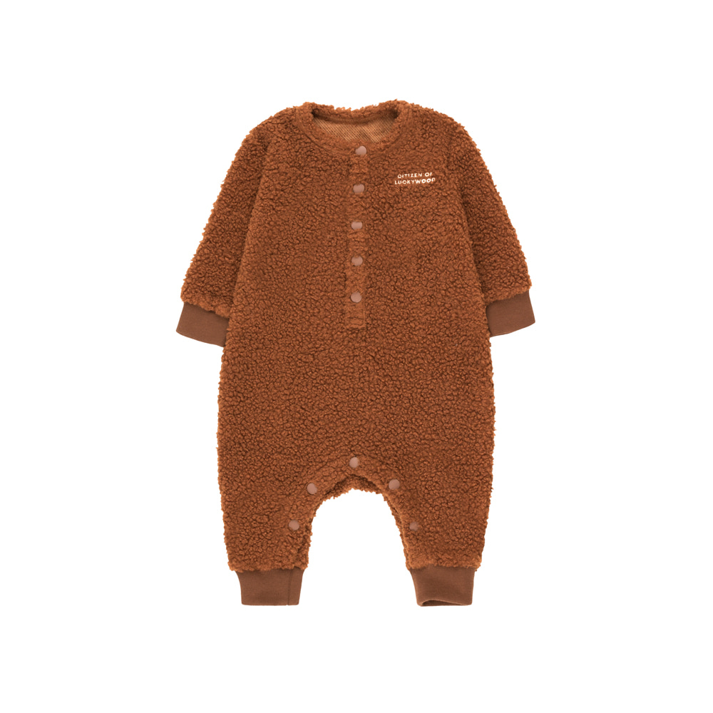 타이니코튼 CITIZEN OF LUCKYWOOD ONE-PIECE_DARK BROWN/LIGHT CREAM