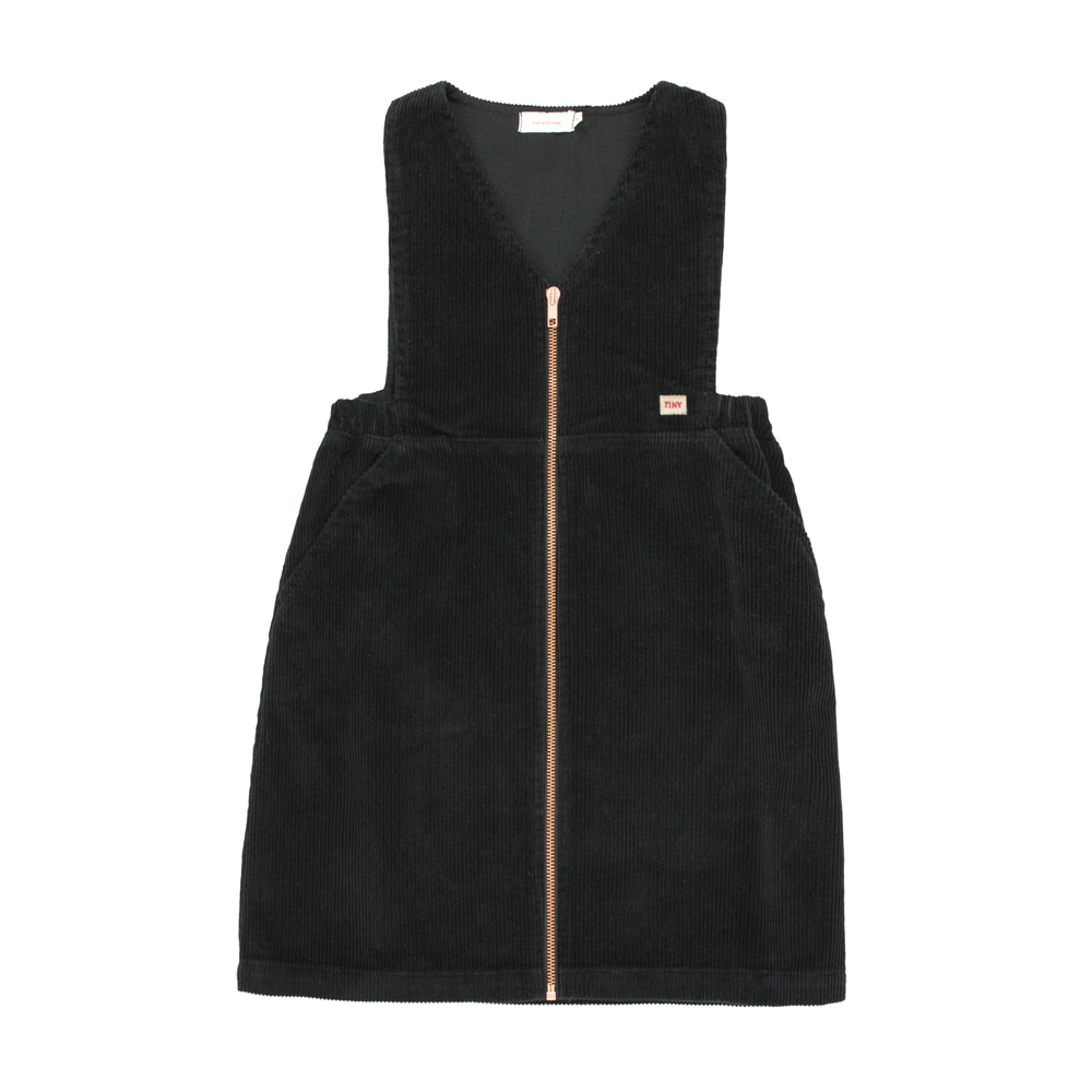 타이니코튼 CORD V-NECK DRESS_BLACK