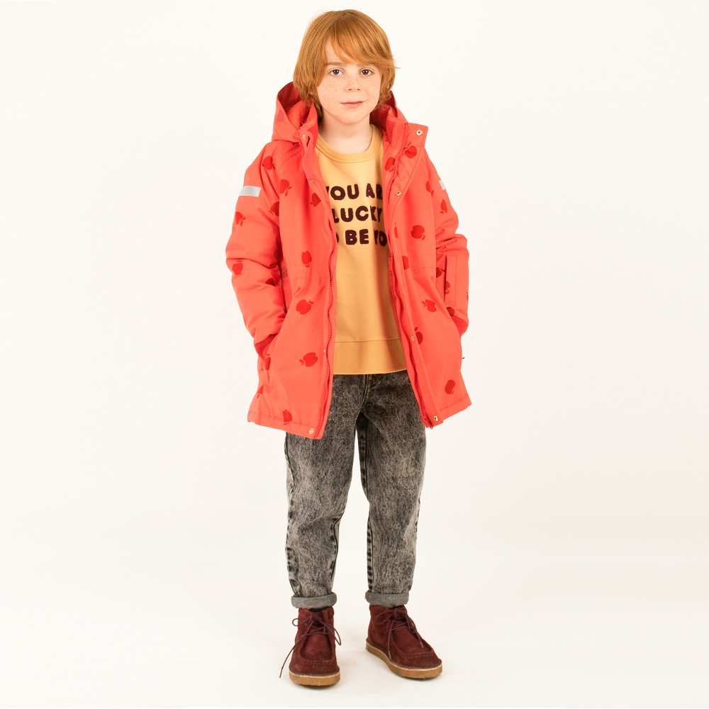 타이니코튼 APPLES SNOW JACKET_RED/BURGUNDY