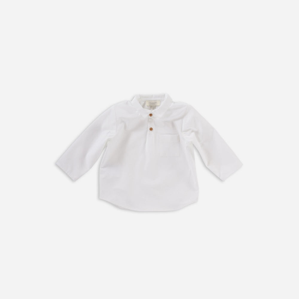 올리비에 ARLO SHIRT_CREAM COTTON