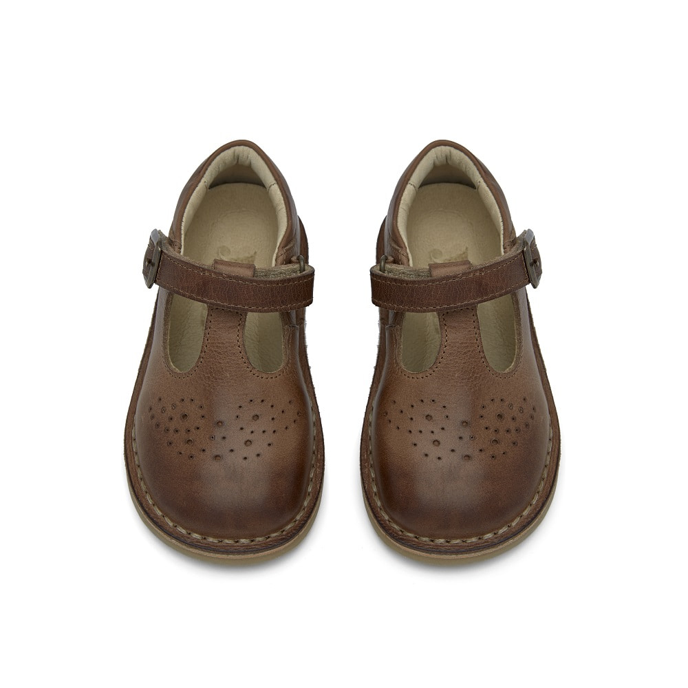 영솔 슈즈 PENNY T-BAR SHOES_TAN BURNISHED