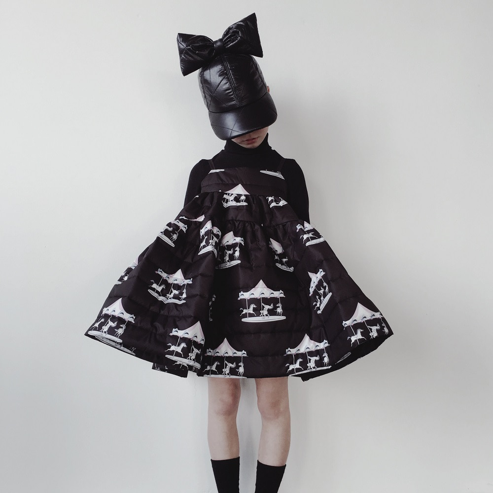 캐롤라인보스만 PRINTED MATELASSE MAXI WIDE DRESS_HORSE