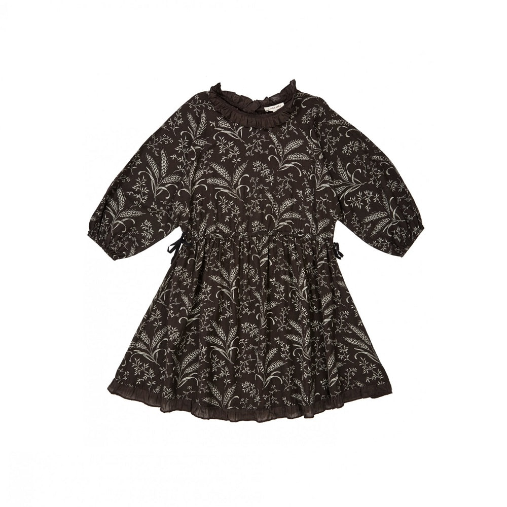 카라멜 ARTEMIS DRESS_WHEAT PRINT MOUSE GREY