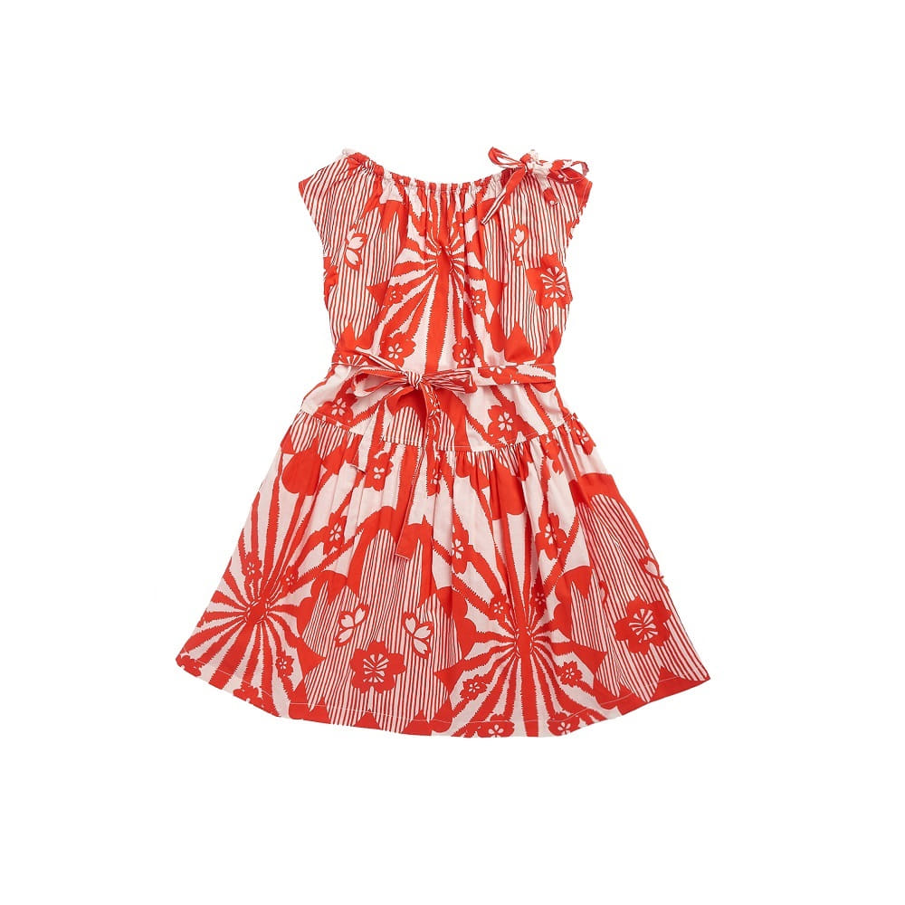 카라멜 NOTTING HILL DRESS_RED FLOWER PRINT