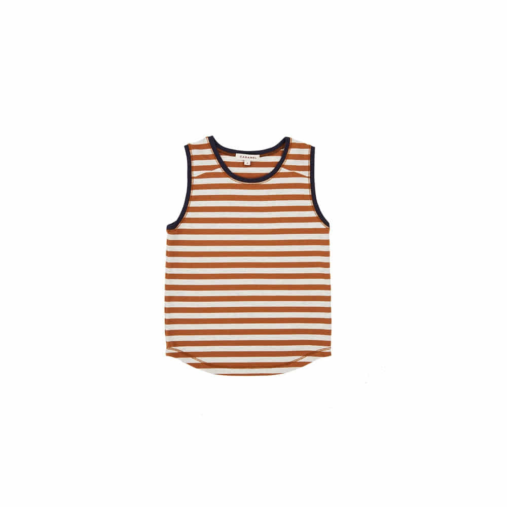 카라멜 ALDWYCH VEST_BROWN STRIPE