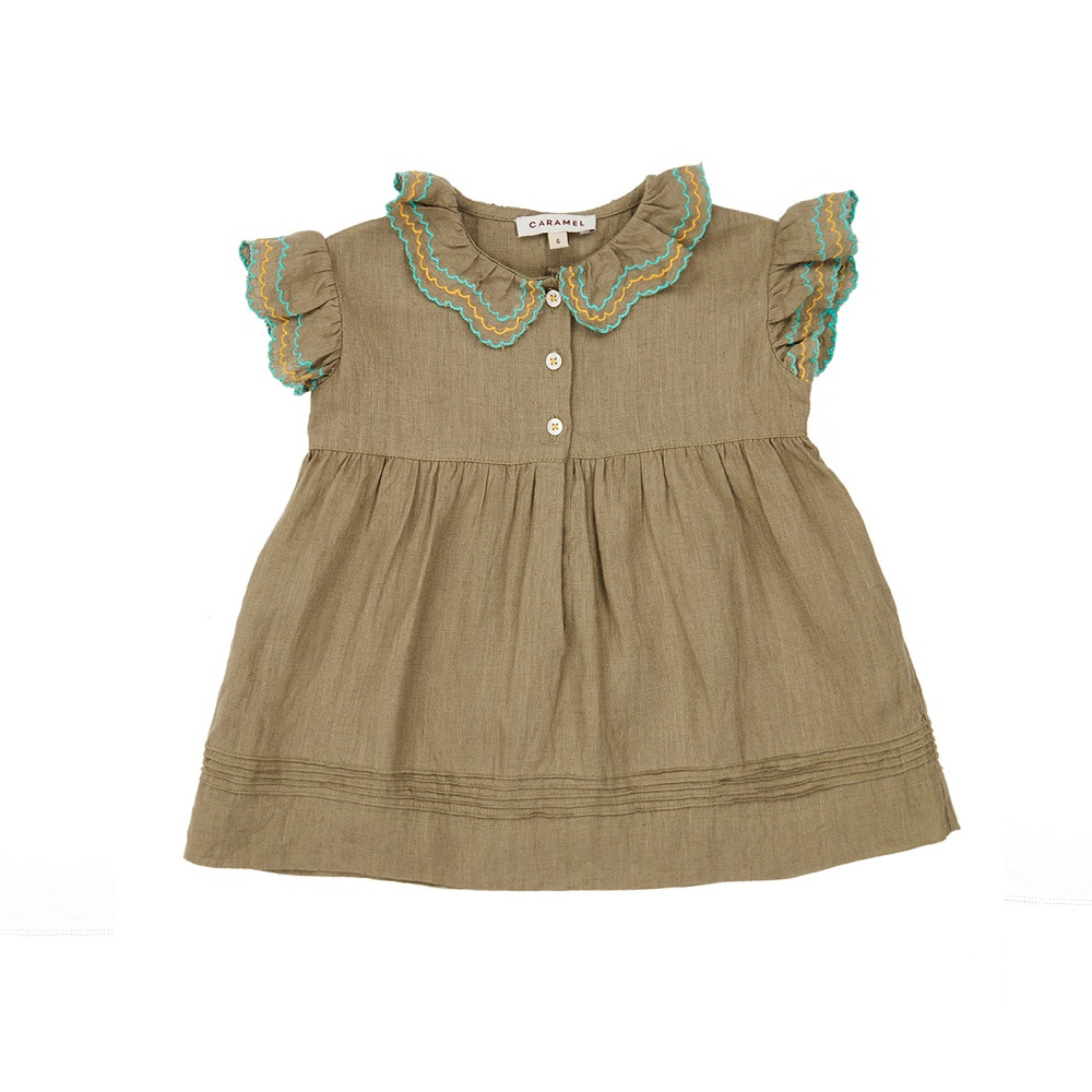 카라멜 Sloane Square Baby Dress, Sage Green