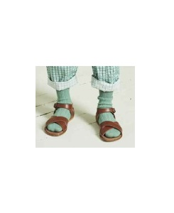 카라멜 CHILD RIB ANKLE SOCKS_PACIFIC
