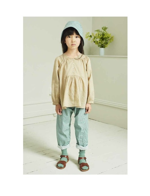 카라멜 CHELSEA TROUSERS_TOURMALINE P.CHECK