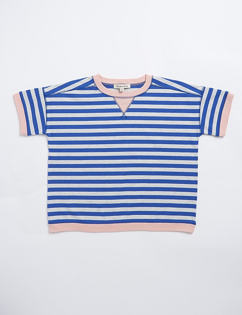 카라멜 BALHAM BABY T-SHIRT_BLUE STRIPE