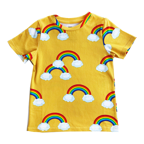 로미러브스루루 T SHIRT_RAINBOW YELLOW