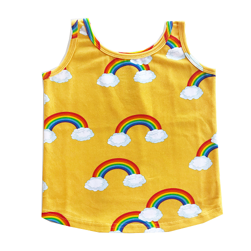 로미러브스루루 TANK TOP_RAINBOW YELLOW