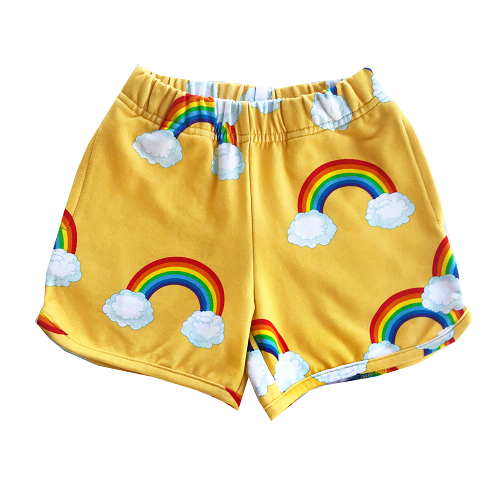 로미러브스루루 SHORTS_RAINBOW YELLOW