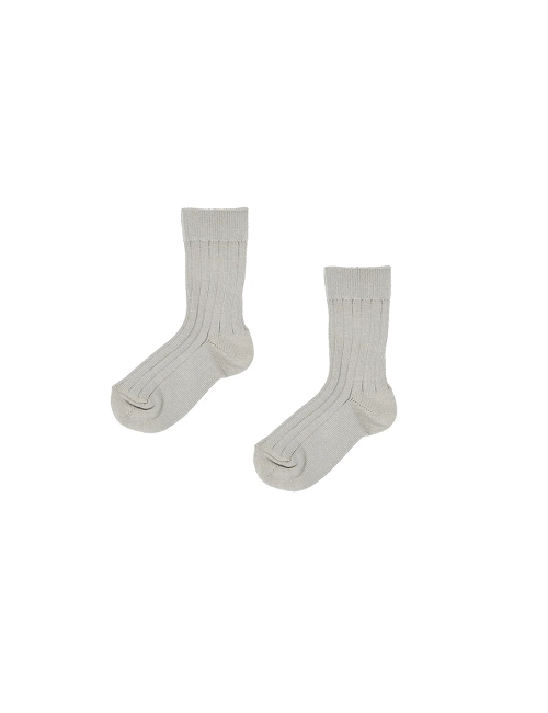 카라멜 BABY RIB ANKLE SOCKS_PACIFIC