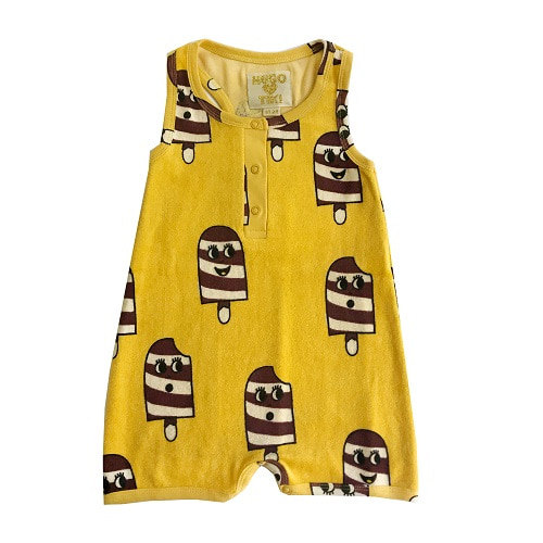 휴고러브스티키 TERRY SHORT LEG ROMPER - ICE CREAM YELLOW
