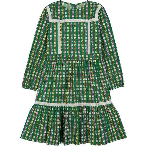 헬로시모네 Anoushka Long Dress Cocotte Green