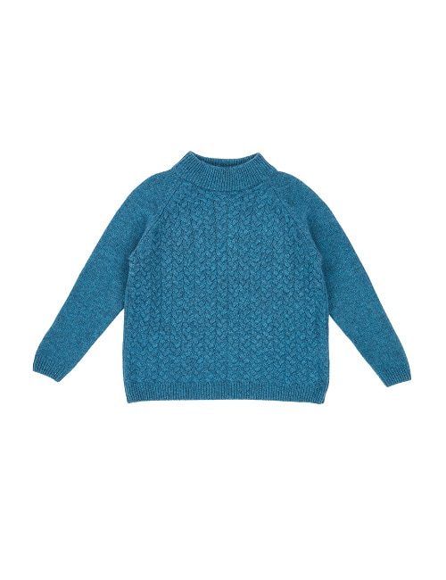 카라멜 OWL CABLE JUMPER-TEAL