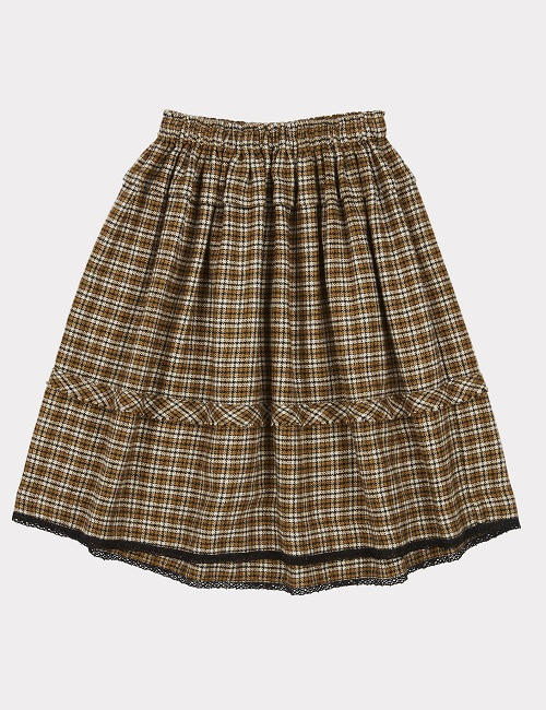 4차 카라멜 WAGTAIL SKIRT-YELLOW CHECK