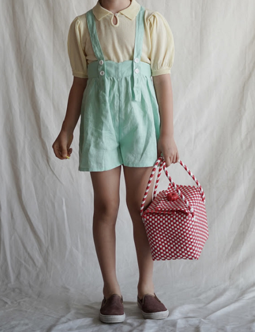 suspender shorts (mint)