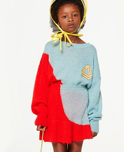 타오/BICOLOR BULL KIDS SWEATER 000831_074