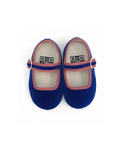 봉통 BABY SLIPPER BUCKLE UNITED_BLEU