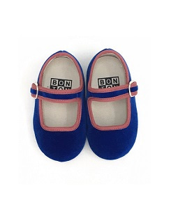 봉통 GIRL SLIPPER BUCKLE UNITED_BLEU