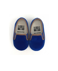 봉통 BABY SLIPPERS ELASTIC UNITED_BLEU