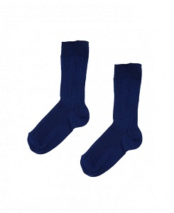 카라멜 RIB ANKLE SOCKS_RICH BLUE