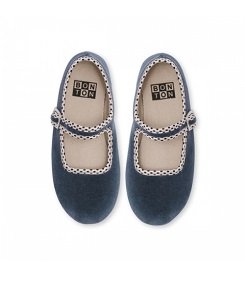 봉통 GIRL SLIPPER BUCKLE UNITED_BLEU-GRIS [Z-5]
