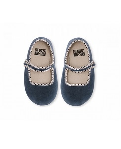 봉통 BABY SLIPPER BUCKLE UNITED_BLEU-GRIS [Z-5]