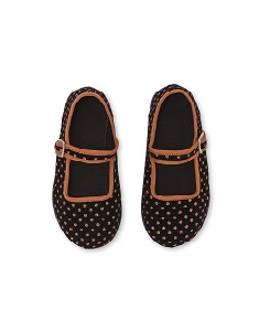 봉통 GIRL SLIPPERS BUCKLE DOT_POIS MARRON [Z-5]