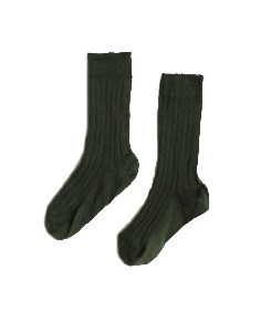 카라멜 RIB ANKLE SOCKS_EMERALD