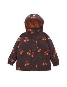 "타이니코튼 ""big cherries""snow jacket_plum/red"