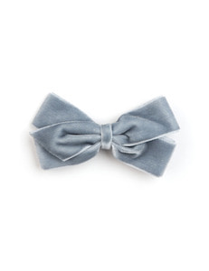 베르티존스 MEDIUM VELVET HAIR CLIP_ANTIQUE BLUE
