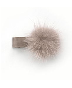 베르티존스 POM POM HAIR CLIP_ANTIQUE MAUVE